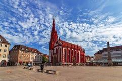 De Kapel van Marienkapellemary ` s in Wurzburg - Duitsland Stock Foto