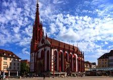 De Kapel van Marienkapellemary ` s in Wurzburg - Duitsland Stock Afbeeldingen