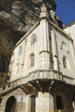 De kapel van Notredame de rocamadour in Bisschoppelijke Stad van Rocamadour, Frankrijk Stock Fotografie