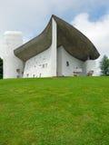 De Kapel van Ronchamp Stock Afbeeldingen