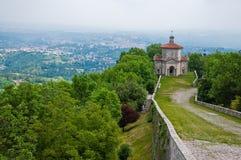 De kapel van Sacri van Monte Stock Foto's