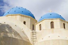 De kapel van Santorini Stock Afbeelding