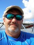 De Kapitein van de boot royalty-vrije stock afbeelding