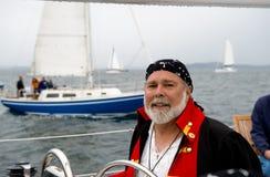 De kapitein van de piraat stock afbeeldingen