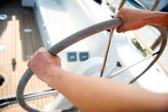 De kapitein van de zeilboot Royalty-vrije Stock Afbeelding