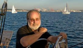 De kapitein van de zeilboot royalty-vrije stock foto