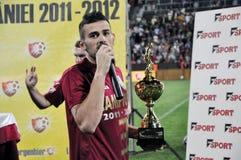 De kapitein van het voetbal met gouden kop Royalty-vrije Stock Afbeelding