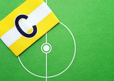 De kapiteinsarmband van het voetbal Royalty-vrije Stock Foto's