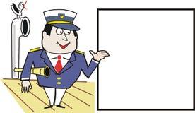 De kapiteinsbeeldverhaal van het schip Royalty-vrije Stock Foto's