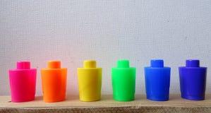 De kappen van de regenboogteller Stock Afbeelding