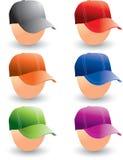 De kappen van het honkbal op hoofden Vector Illustratie