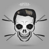 De kapper van de Hipsterschedel vector illustratie