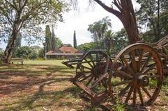 De Kar van de os en het huis van Karen Blixen's, Kenia. royalty-vrije stock afbeeldingen