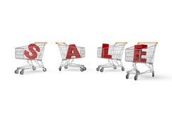 De Kar van de verkoop vector illustratie