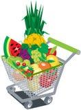 De kar van het fruit Stock Foto