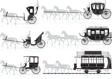 De kar van het paard Stock Afbeeldingen