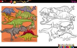 De karakters die van Dino boek kleuren Royalty-vrije Stock Fotografie