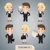 De Karakters Set1.1 van het Businessmansbeeldverhaal Royalty-vrije Stock Afbeeldingen