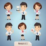 De Karakters Set1.1 van het managersbeeldverhaal Royalty-vrije Stock Afbeeldingen