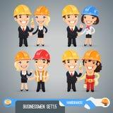 De Karakters Set1.5 van het zakenliedenbeeldverhaal Stock Foto's