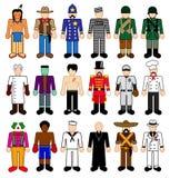 De Karakters van Classick plakken Cijfers Royalty-vrije Stock Afbeelding