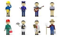 De karakters van de arbeider Stock Afbeelding