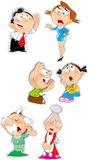 De karakters van de emotiesfamilie Stock Afbeelding
