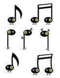 De karakters van de muzieknoot Stock Fotografie