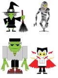 De karakters van Halloween Stock Foto's