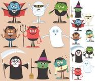 De Karakters van Halloween Stock Afbeelding
