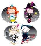 De Karakters van Halloween Royalty-vrije Stock Afbeeldingen