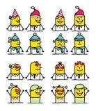 De karakters van het beeldverhaal - de winter & de zomer Royalty-vrije Stock Afbeeldingen