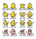 De karakters van het beeldverhaal - geluk royalty-vrije illustratie