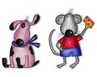 De karakters van het beeldverhaal. Kunstwerk Stock Afbeelding