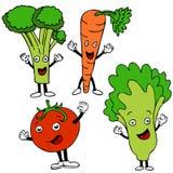 De Karakters van het Beeldverhaal van het voedsel royalty-vrije illustratie