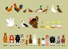 De Karakters van het beeldverhaallandbouwbedrijf (Deel 2) Stock Afbeelding