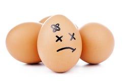 De Karakters van het ei Stock Afbeelding