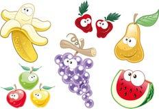 De karakters van het fruit Stock Foto