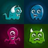 De karakters van het monster royalty-vrije stock foto's
