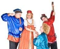 De karakters van het theater - suitors royalty-vrije stock foto