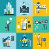 De karakters van het Webontwikkelingsteam Stock Afbeelding