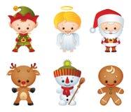 De karakters van Kerstmis Royalty-vrije Stock Foto