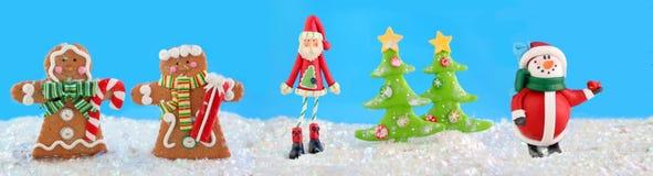 De karakters van Kerstmis Royalty-vrije Stock Foto's
