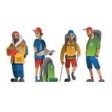 De karakters vectorreeks van de wandelingsmens Royalty-vrije Stock Fotografie