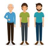De karakterspictogram van de familiegroep royalty-vrije illustratie