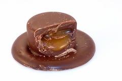 De Karamel van de chocolade Stock Afbeelding
