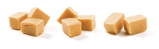 De Karamel van het suikergoed op wit royalty-vrije stock foto