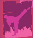 De karate stelt 4 royalty-vrije illustratie