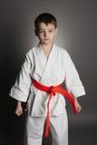 De karate van de jongenspraktijk royalty-vrije stock afbeelding