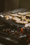 De karbonades van het varkensvleesvlees op barbecue Royalty-vrije Stock Foto